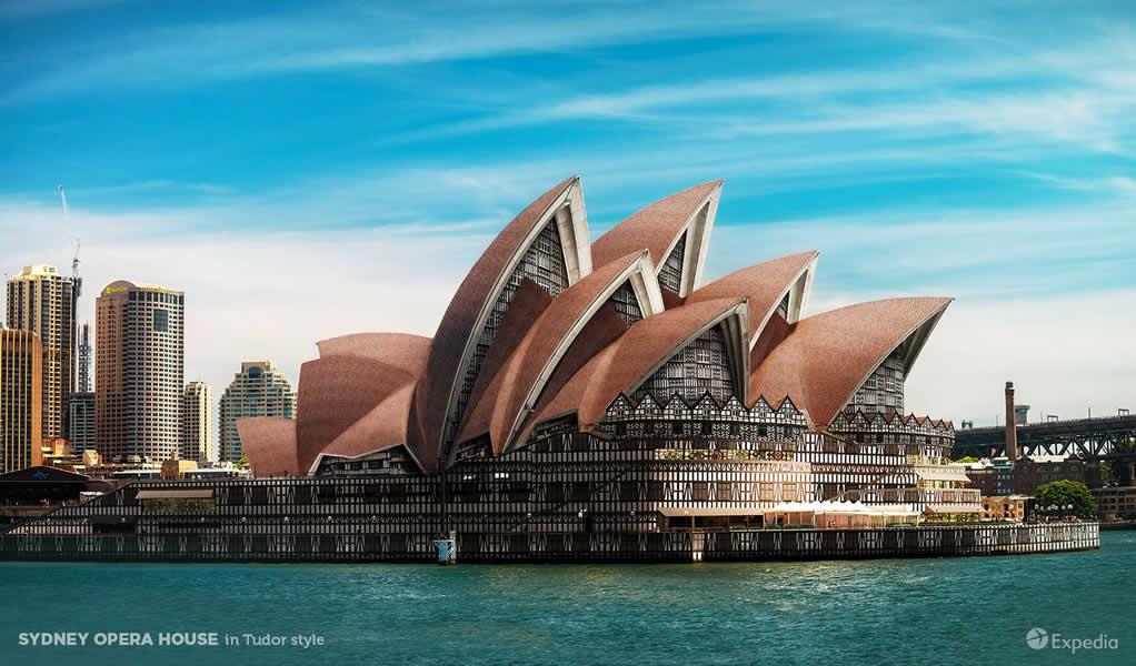 7 edificios íconos de la arquitectura imaginados en otros estilos arquitectónicos