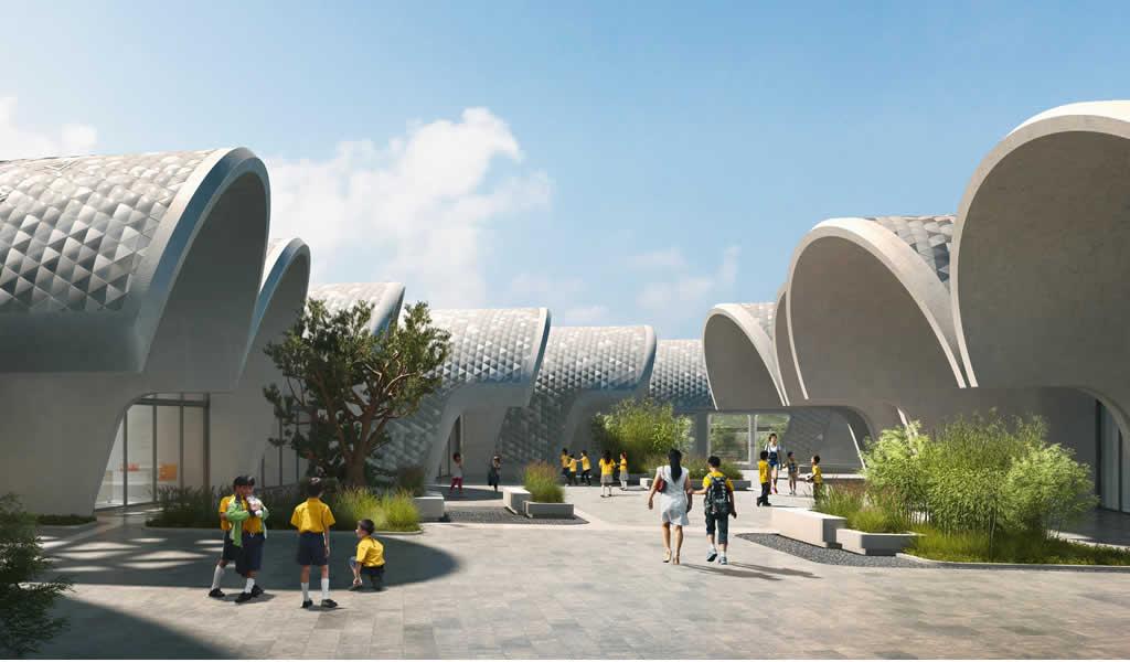 Zaha Hadid Architects diseña escuela primaria para 120 estudiantes en zona rural de China
