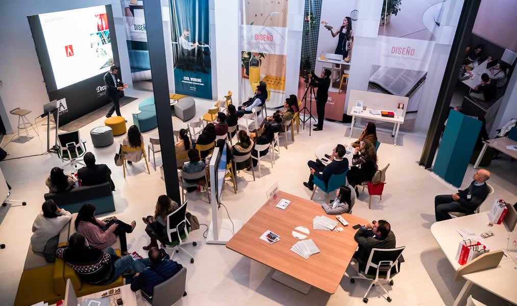 DECORLUX y ACTIU presentaron novedades en mobiliario de oficina