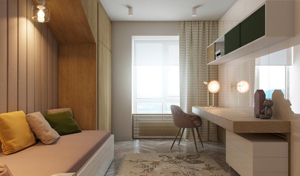 Modernos departamentos con Habitaciones Chic para Niños