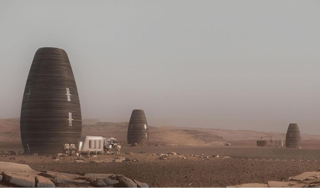NASA apoya proyecto de cápsulas impresas en 3D para astronautas en Marte