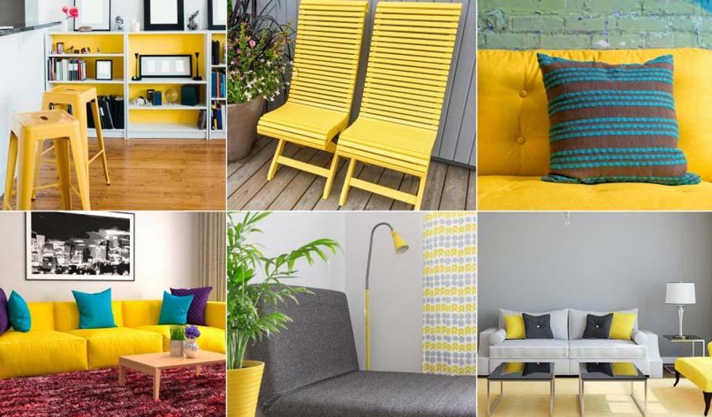 ¿Cómo decorar con amarillo?