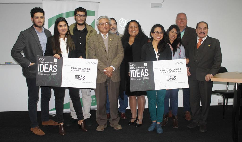 Colegio de arquitectos del Perú y municipalidad de San Isidro premiaron a los ganadores del concurso de ideas plaza 3
