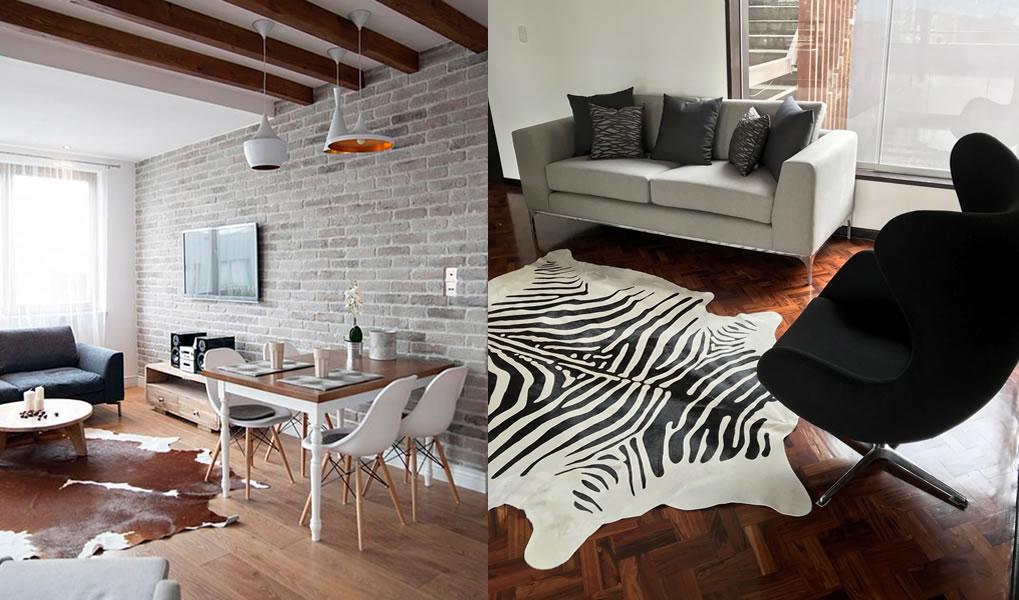 Las ventajas de tener una alfombras de cuero de vaca según Cómplice Casa de Diseño