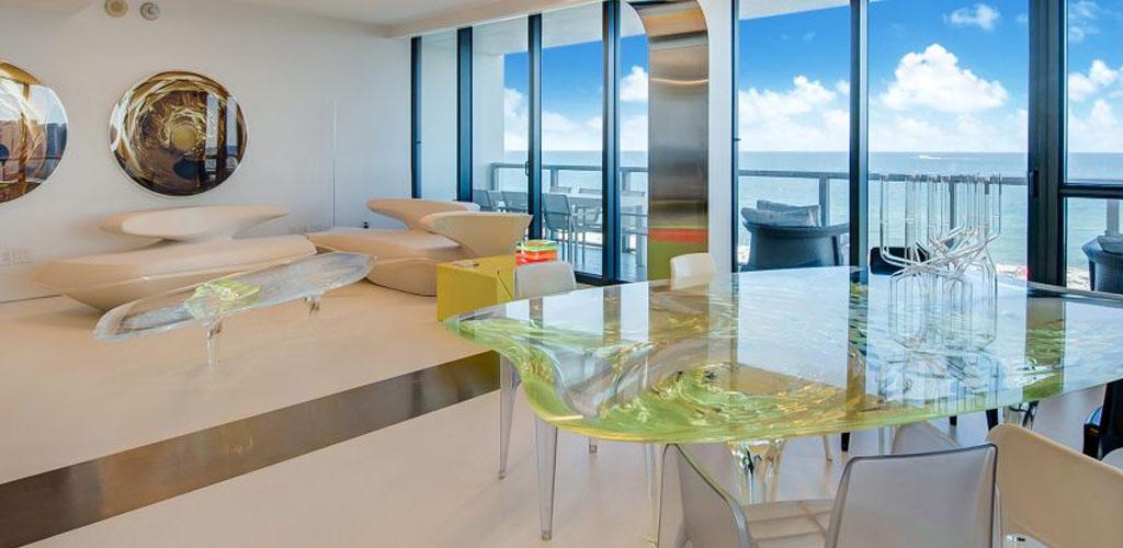 El departamento de Zaha Hadid en Miami Beach fue amueblado con sus propios diseños