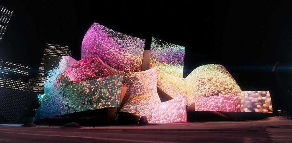 El Walt Disney Concert Hall será lienzo de proyecciones digitales del artista Refik Anadol y Google Arts & Culture