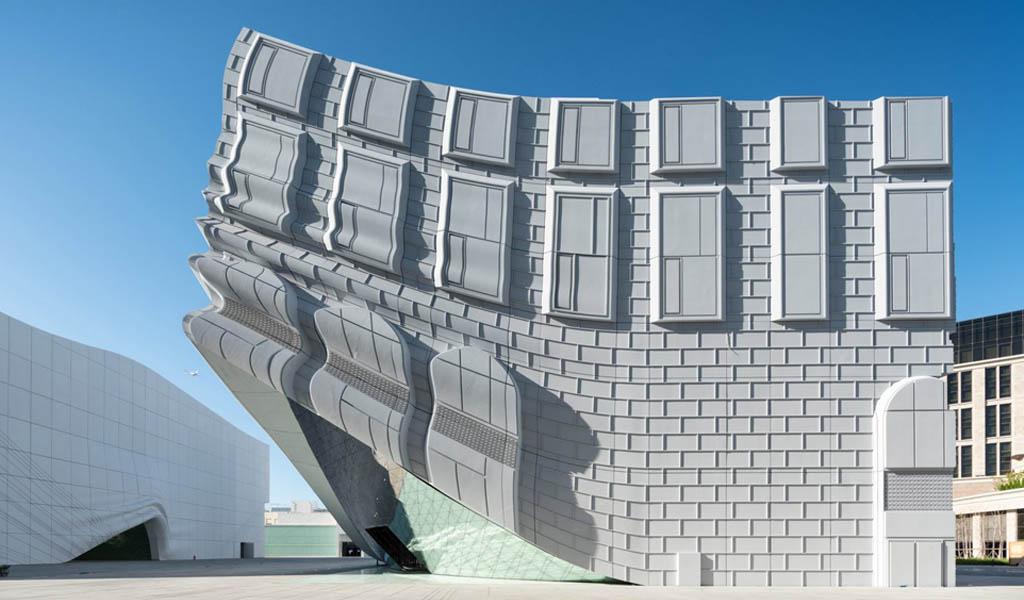 MVRDV imprime los edificios circundantes en las paredes del parque temático interior cerca de Seúl.