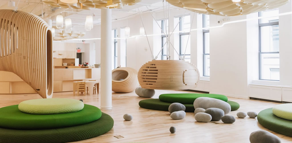 La escuela BIG de la ciudad de Nueva York para WeWork fomenta la interacción y el juego