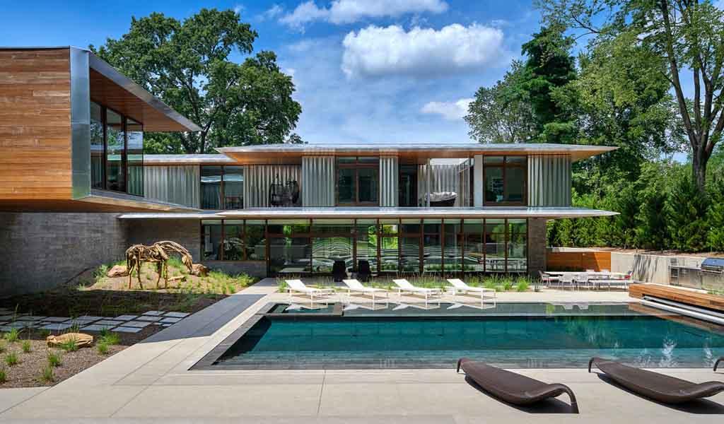 Una casa en Kansas City diseñada para la extensa colección de un coleccionista de arte