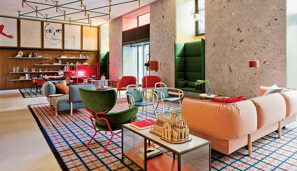Este hotel de Milán es un Quién es Quién de los Grandes Contemporáneos del Diseño Italiano