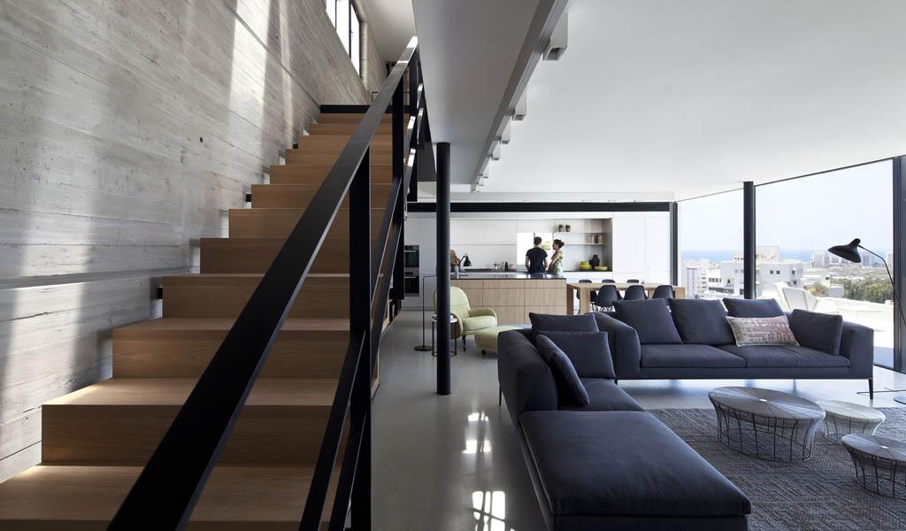 Y Duplex Penthouse por Pitsou Kedem Architects