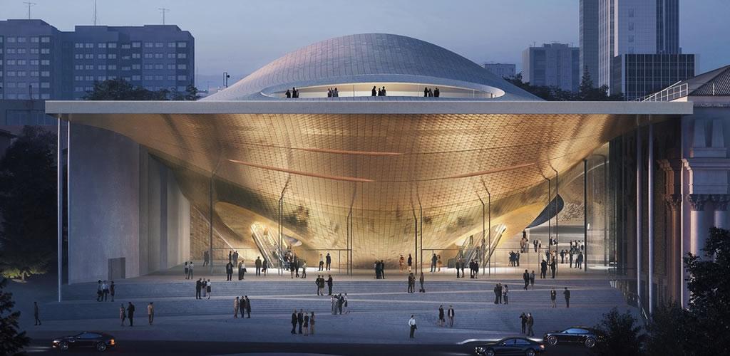 Zaha Hadid Architects reinterpreta ondas de sonido para la sala de conciertos filarmónica de Sverdlovsk