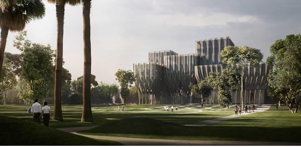 Zaha Hadid Architects diseña cinco torres de madera para albergar el Instituto del Genocidio Camboyano
