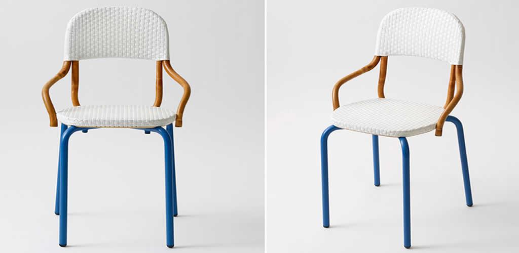 La silla corso de Robert Stadler es un retrabajo contemporáneo de un icono bistró parisino