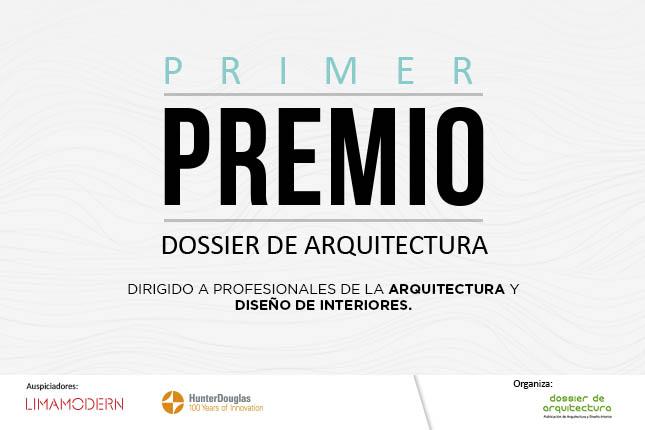 Dossier de Arquitectura presentará por primera vez Premio de arquitectura y diseño