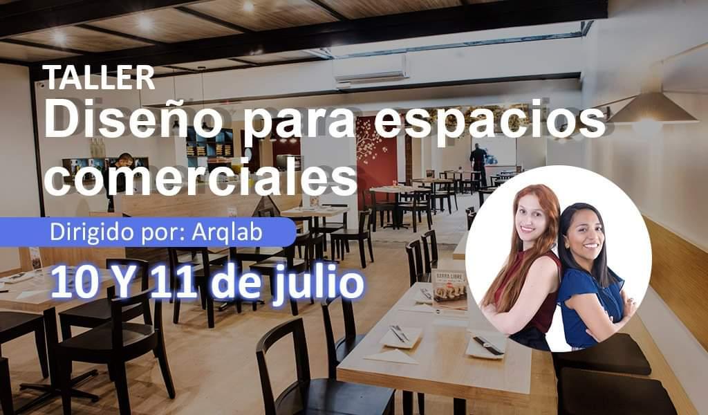 """Dossier de Arquitectura presenta el taller del mes de julio: """"Diseño de espacios comerciales""""."""