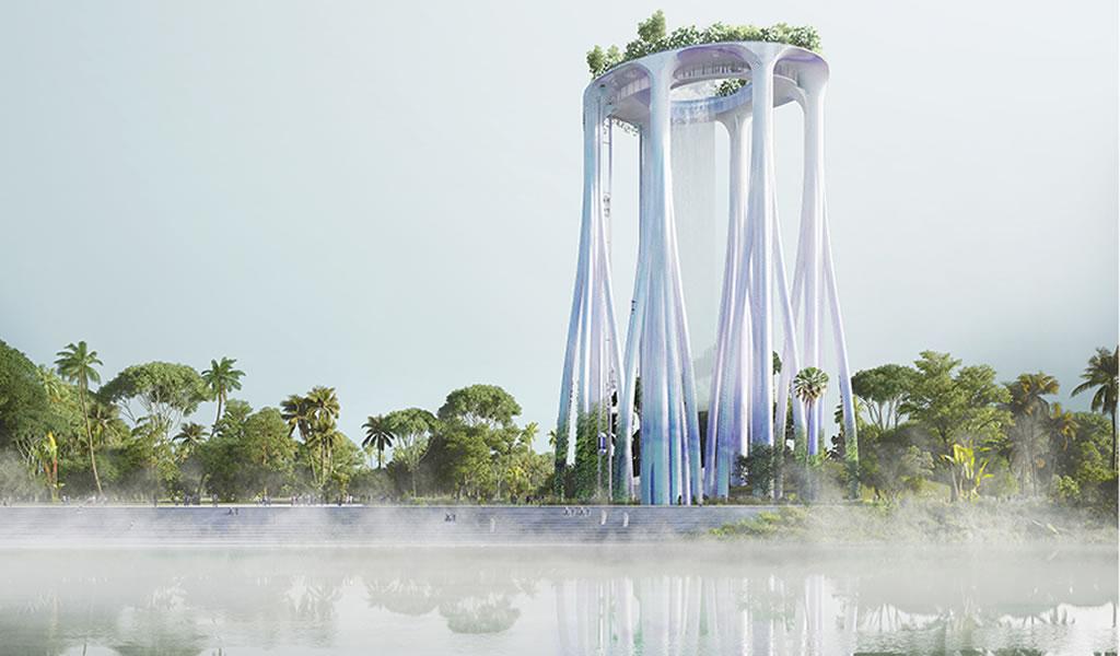 Este monumento se inspira en la selva tropical para albergar un museo y un mirador