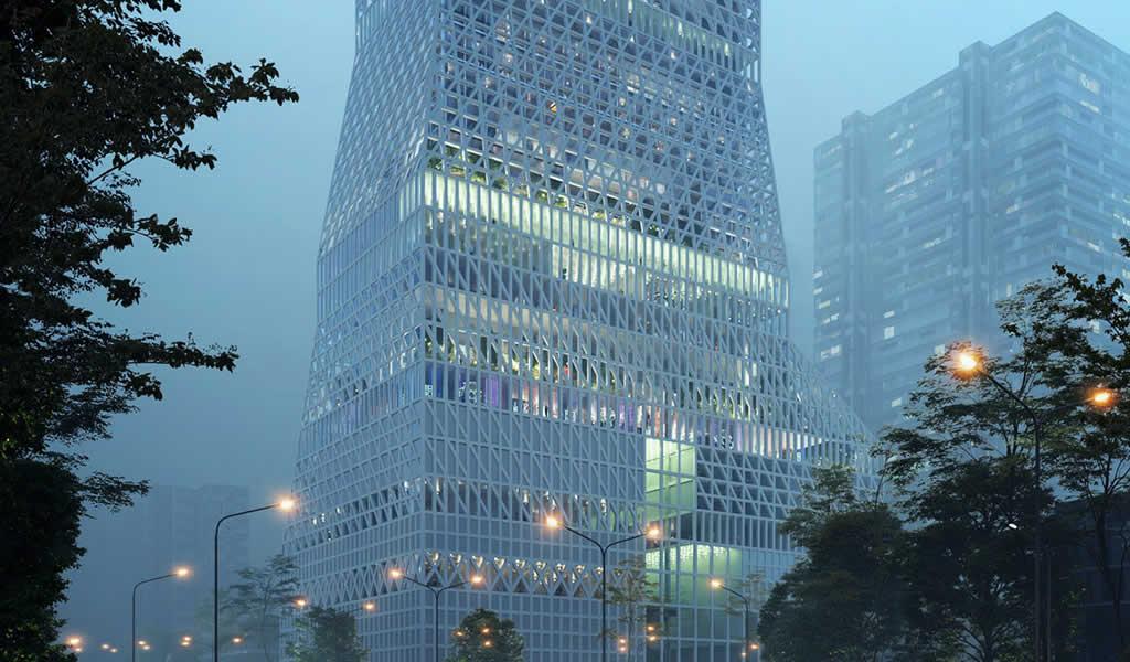 Mecanoo diseñará la torre cultural para el distrito de Futian en Shenzhen