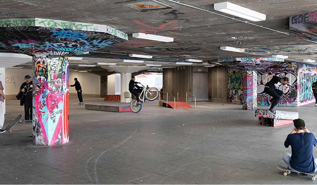 Restauran el subsuelo del Southbank, un hito de arquitectura y skateboarding en Londres