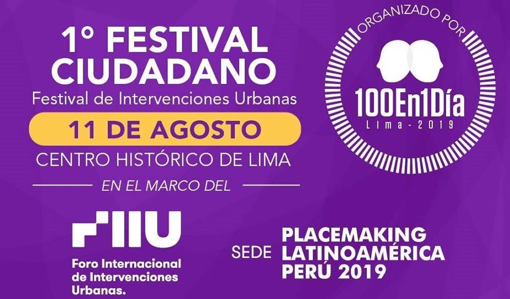Festival Ciudadano 100En1DíaLima