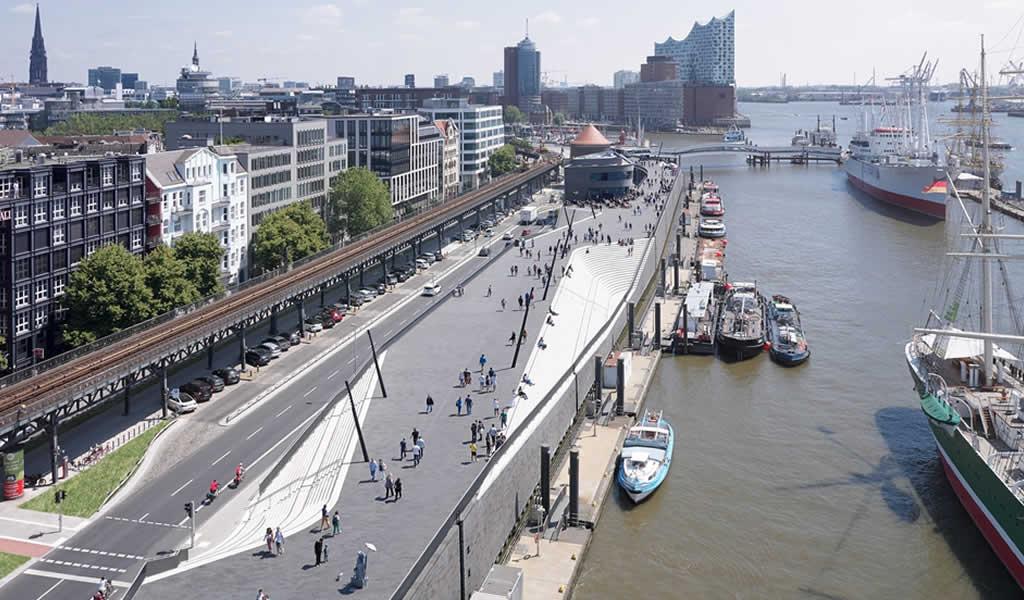 Paseo fluvial Niederhafen / Zaha Hadid Architects
