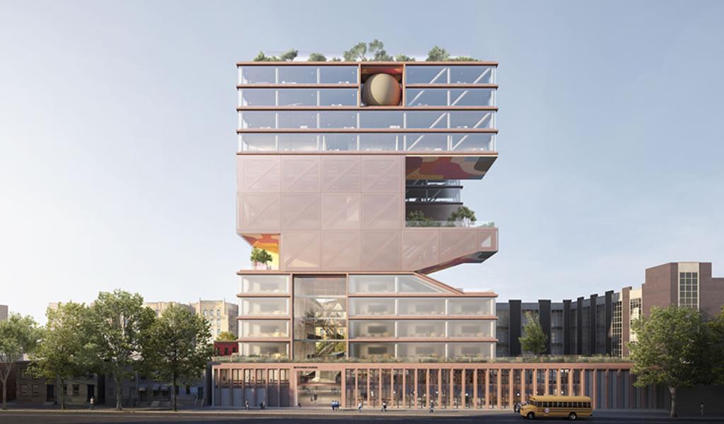 ODA diseña una escuela vertical como solución para los espacios limitados en ciudades densas