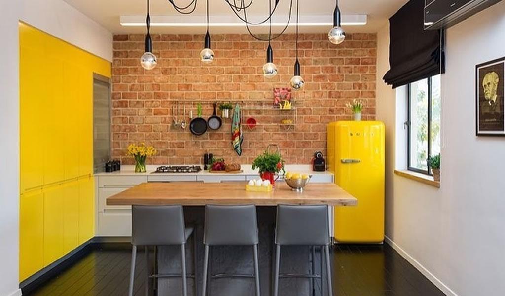 Atrévete a tener una cocina con tonos amarillos