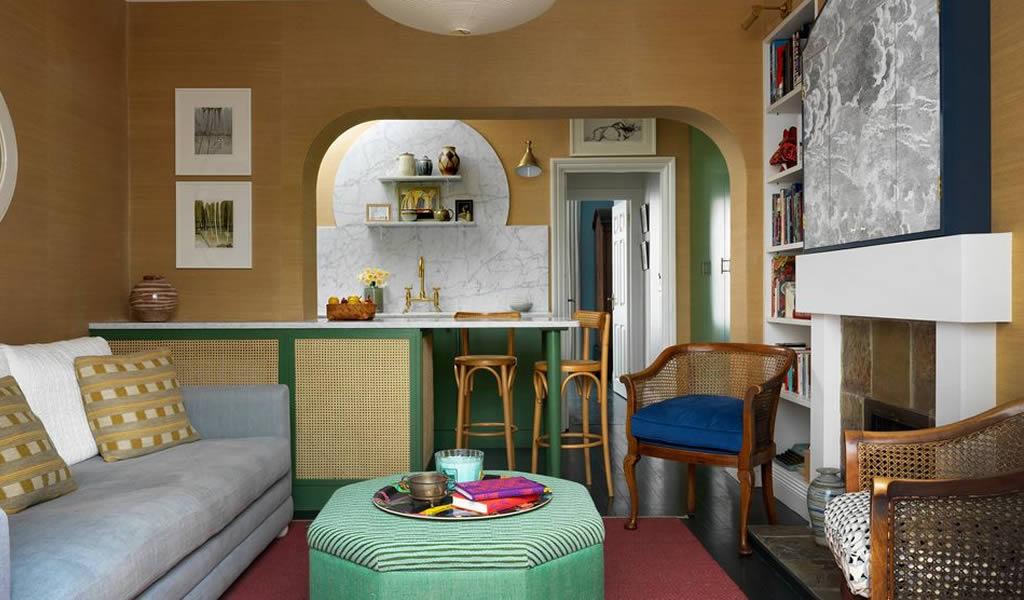 Un ejemplo de como aprovechar el espacio en un departamento pequeño