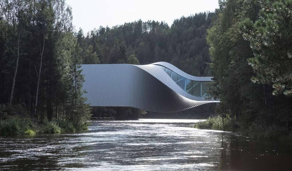 Un puente-escultura en Noruega