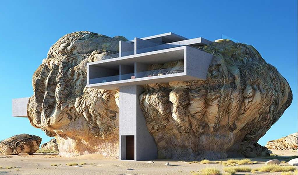Una combinación de arquitectura y naturaleza