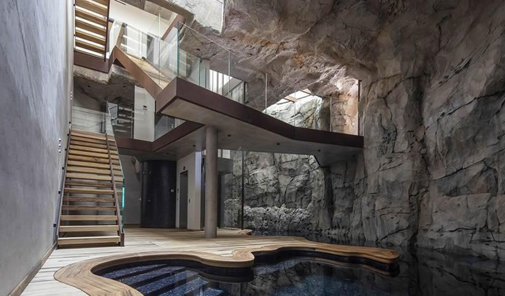 Villa Troglodita, una casa de lujo tallada en la roca de Mónaco