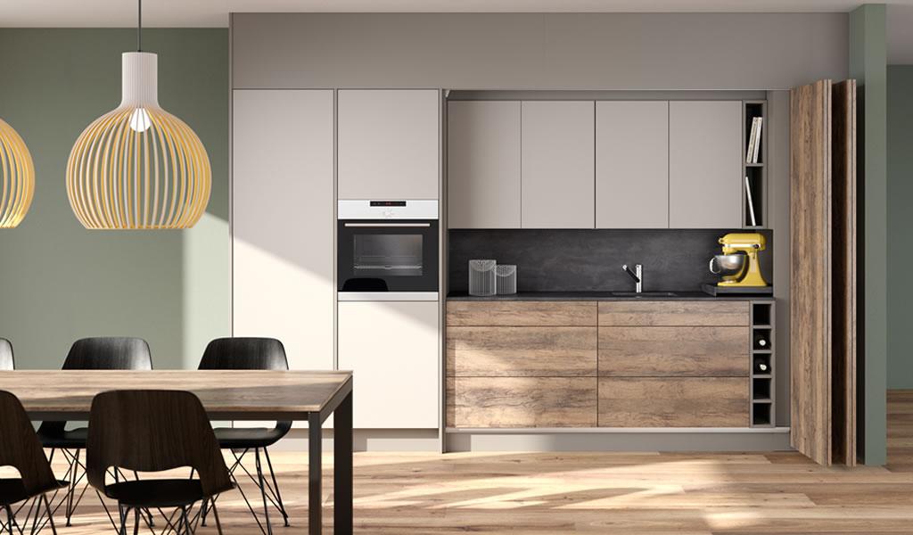 Cómo ahorrar espacio en cocinas: muebles eficientes y transformables