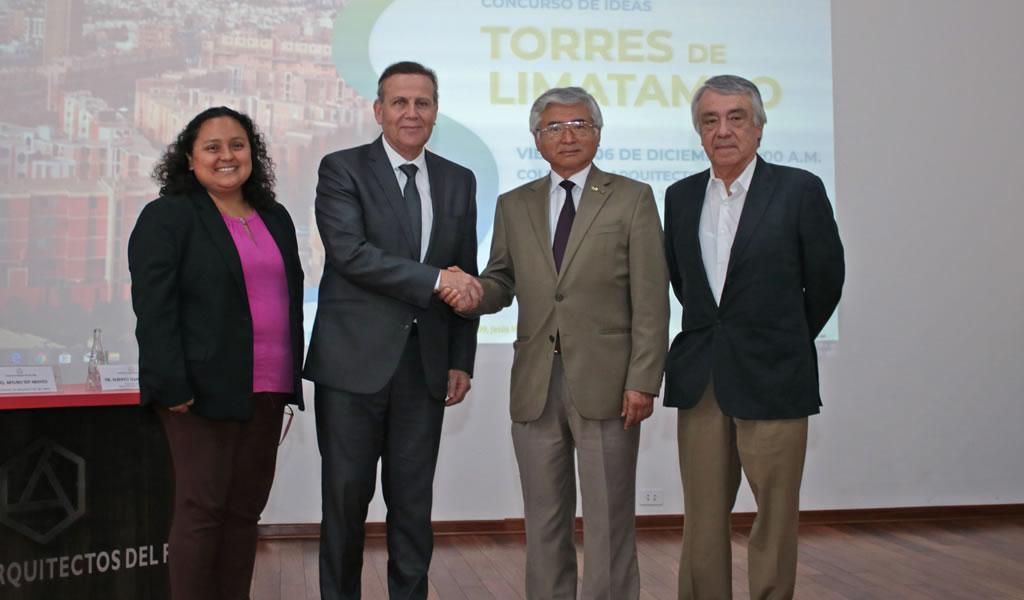"""Colegio de Arquitectos del Perú organiza concurso de ideas para el diseño de los espacios públicos de la supermanzana """"Torres de Limatambo"""""""