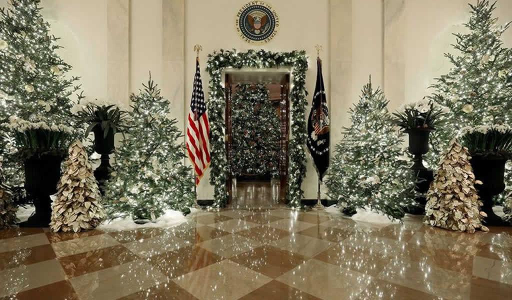 Así es la decoración de navidad 2019 en la Casa Blanca