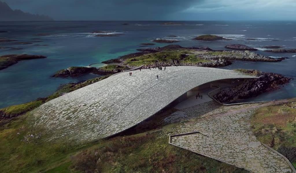 The Whale, un mirador de ballenas camuflado en la naturaleza