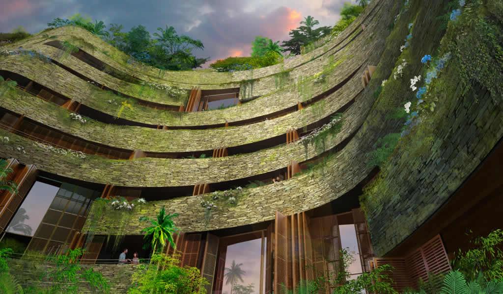 Un complejo residencial en Ecuador con una estructura peculiar