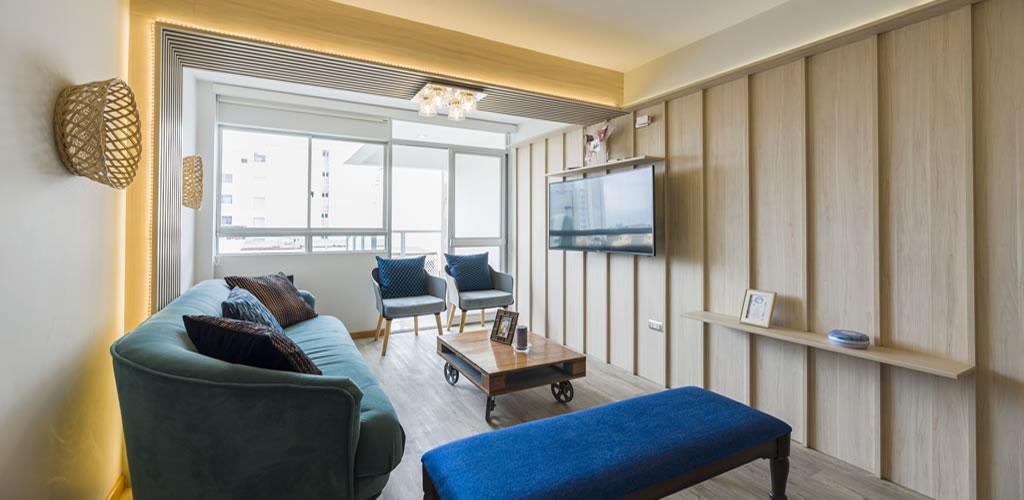 Una sala acogedora y cálida por Urpi Arquitectura