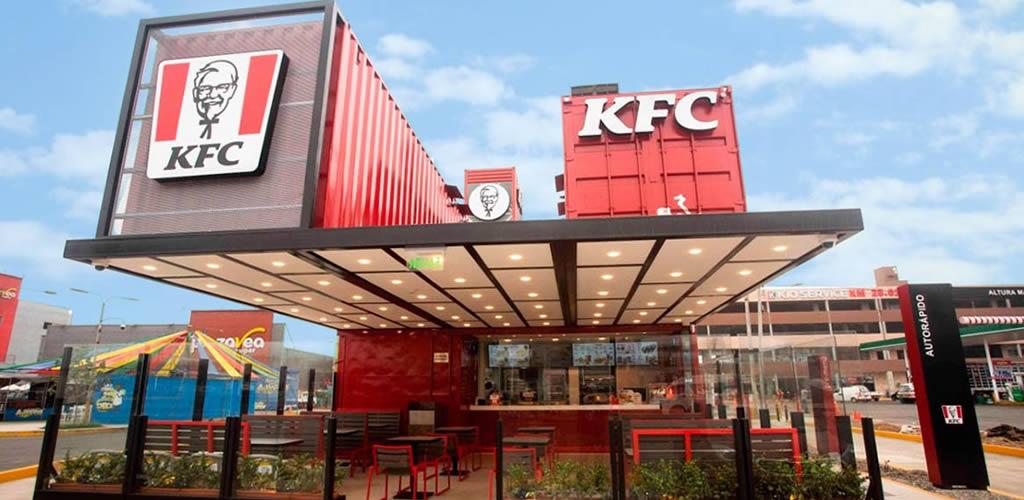 KFC abre restaurante hecho con contenedores reciclados