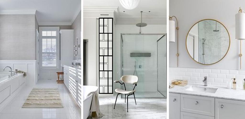 Un cuarto de baño blanco: el clásico más moderno