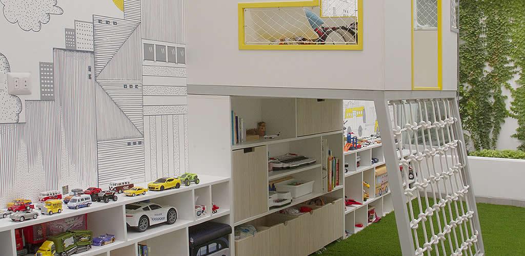 Dormitorio y Playroom por la Arq. Cinthya Arana