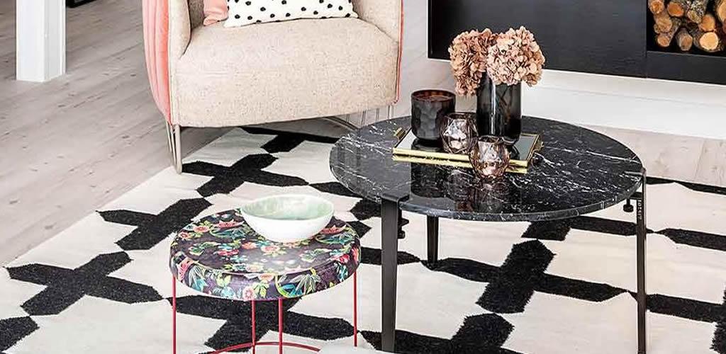 Mesas de centro de mármol, una tendencia