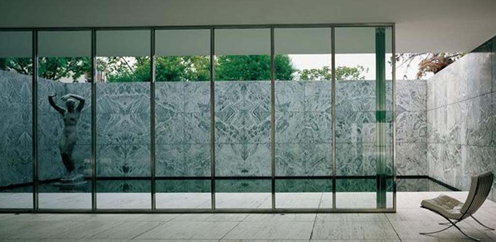 Visita el pabellón de Barcelona de Mies Van Der Rohe durante la cuarentena