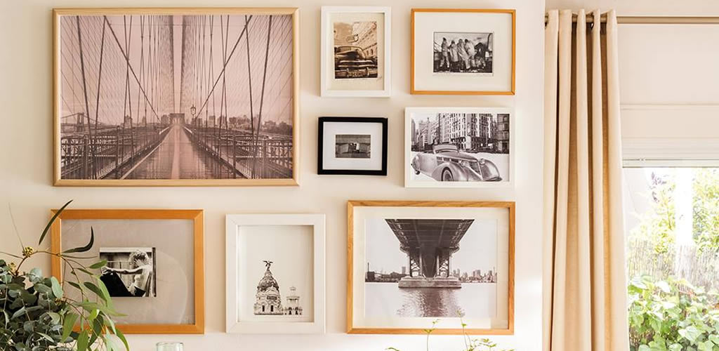 Ideas para decorar con fotos y cuadros que te suben el ánimo