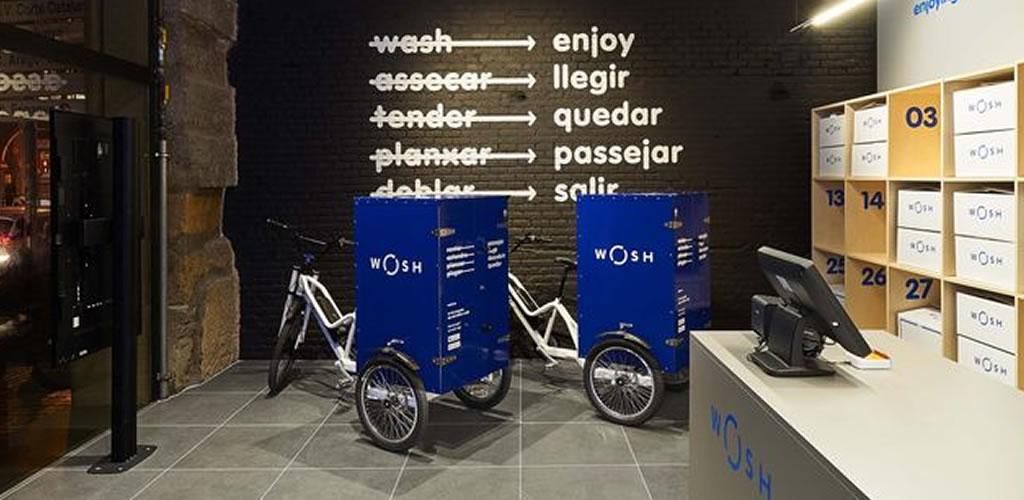 Una lavandería 2.0 con estética industrial