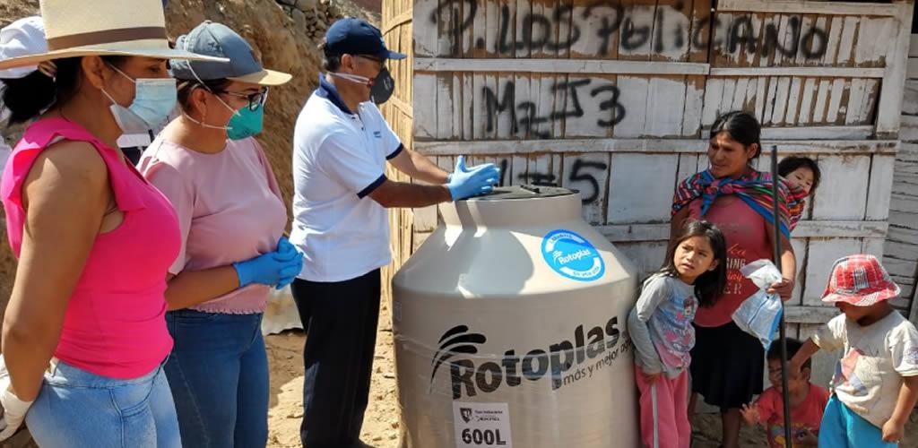 Familias vulnerables serán beneficiadas con tanques para el almacenamiento de agua