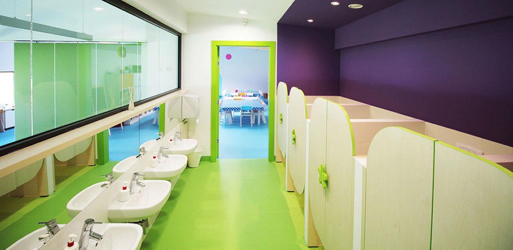 Baños colectivos para niños