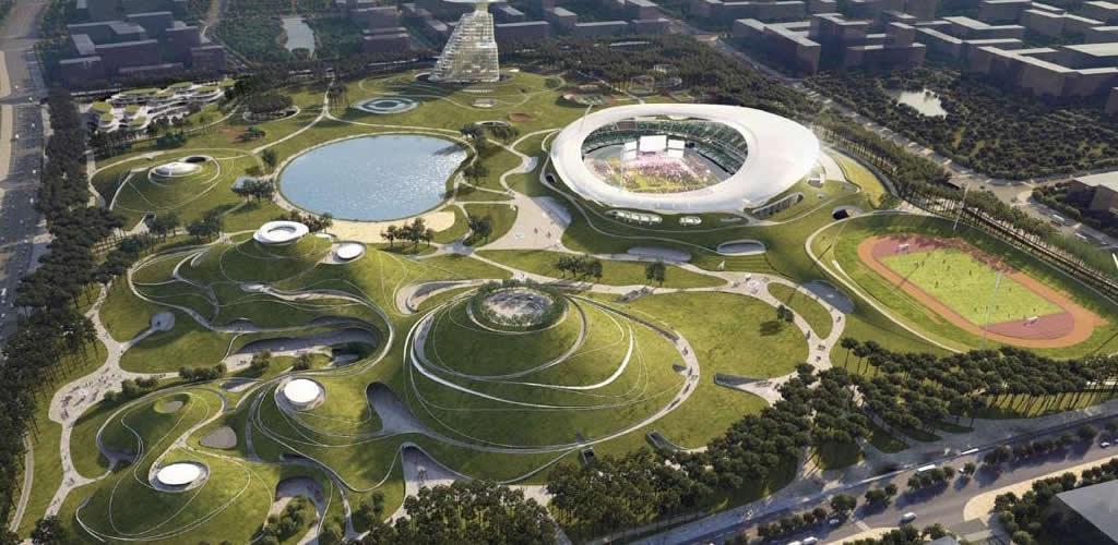 El campus deportivo montañoso de Quzhou ya está en construcción en China