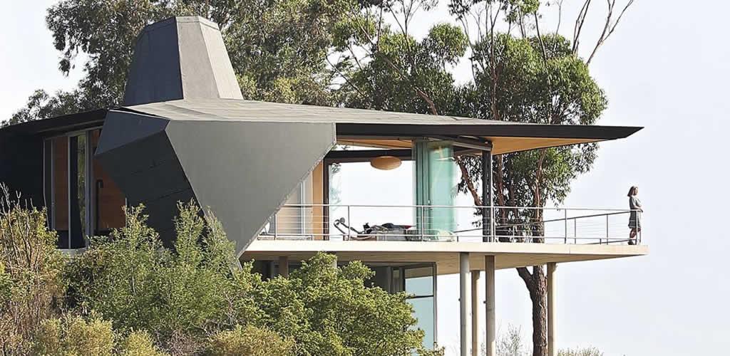 Una casa de inspiración futurista
