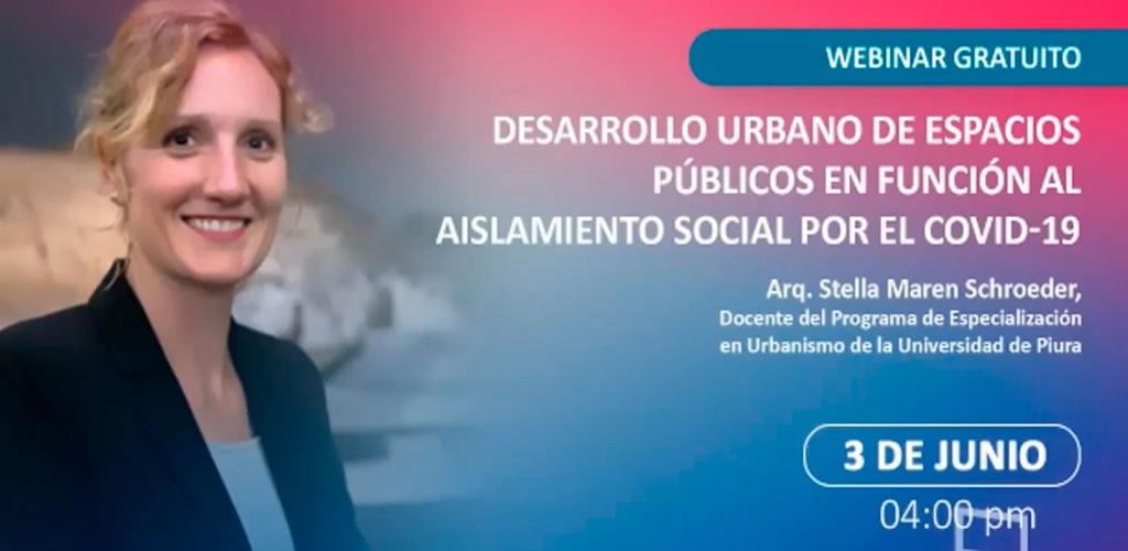 Desarrollo urbano de espacios públicos en función al aislamiento social