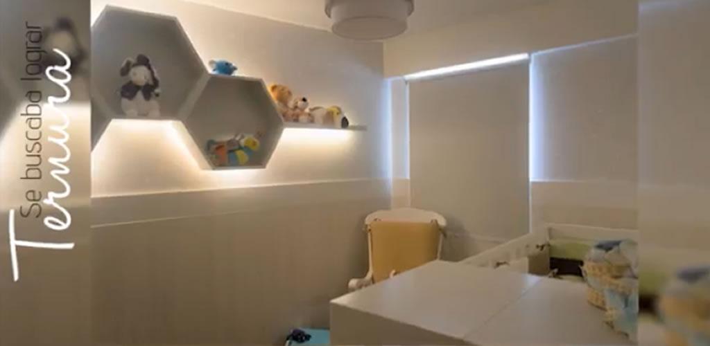 Dormitorio acogedor del bebé  por el Arq. Fernando Alvarez
